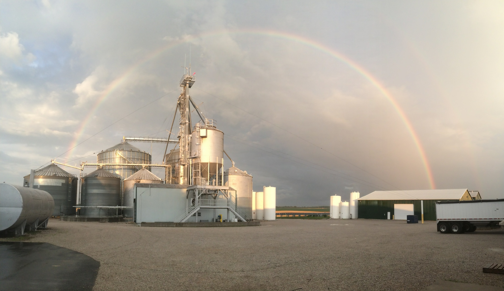 Rainbow Grain Bins at Long Vue Farms